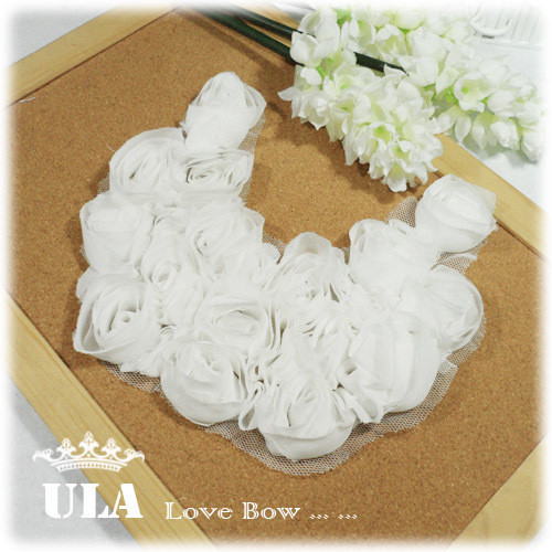 5 pcs/lot DIY accessory 16*14cm rose appliques, Lace Embroidery, bridal, Cotton Lace patches, collar,sewing wedding dress