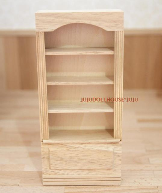 Mini Poppenhuis Siwan mini meubels scène Goedkope houten boekenkast ...