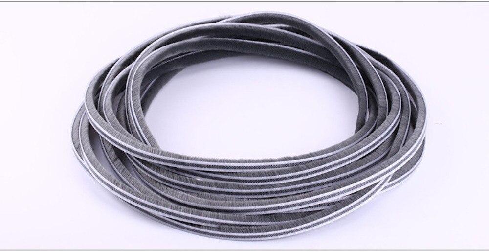Felt Draught Excluder Wool Pile Weatherstrip Insert Sealing Gasket Sliding Sash Window Door Brush Seal 7x4mm 7mm x 4mm 10m Gray