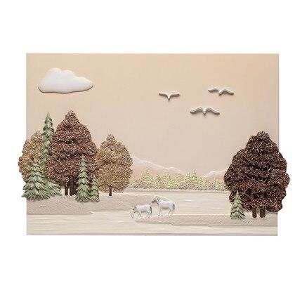 Фу резные 3D 3Д рельеф, фреска, столовая, роспись стен, Современная гостиная, живопись, богатство дерево