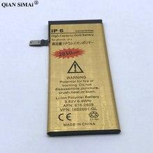 Новый высокое качество 2850 мАч Золото батарея с Инструменты для ремонта Apple iPhone 6 г телефон Бесплатная доставка + код отслеживания
