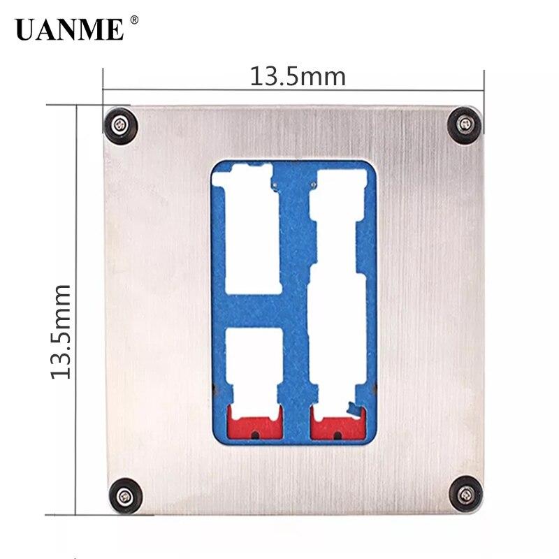 Купить с кэшбэком UANME 12 in 1 Phone Repair Motherboard Fixture For iPhone 5C 5S SE 6p 6S 6SP 7 7P  8 8P XR  CPU Chip Repair Tools PCB Holder jig