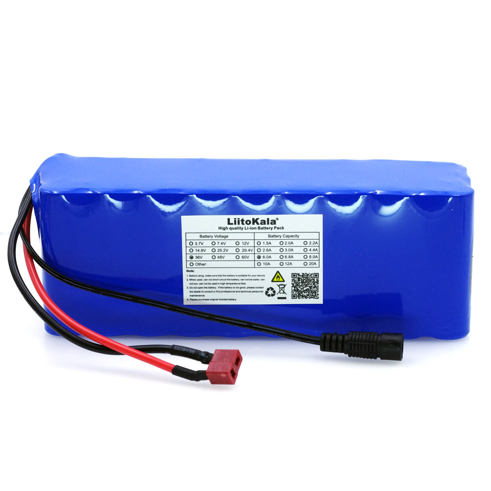 Liitokala 36V 6Ah 10S3P 18650 Rechargeable battery pack ,Modified Bicycles,Electric vehicle Protection with PCB + 36V 2A ChargerLiitokala 36V 6Ah 10S3P 18650 Rechargeable battery pack ,Modified Bicycles,Electric vehicle Protection with PCB + 36V 2A Charger