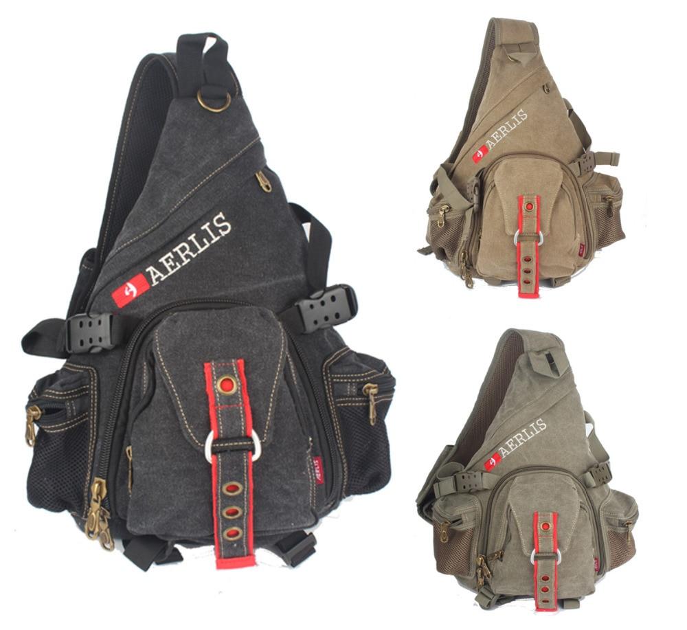 Aliexpress.com : Buy Men's Women's Large Canvas Sling Chest Bag ...