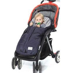 Теплый для детской коляски спальный мешок флис коляски Footmuff младенческой пеленать обёрточная бумага конверты для новорожденных Детское од...