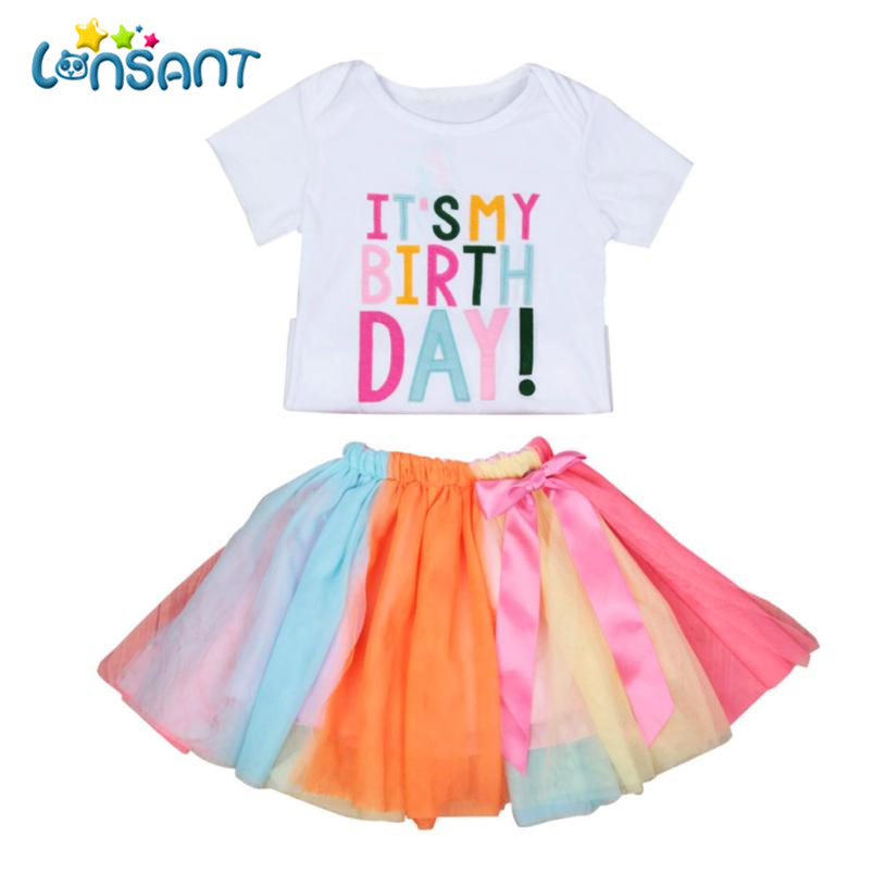 LONSANT Girls Dresses Summer 2018 Children Clothes Girls Vestidos Set Vestido Infantil Vestido De Festa Infantil Dropshipping