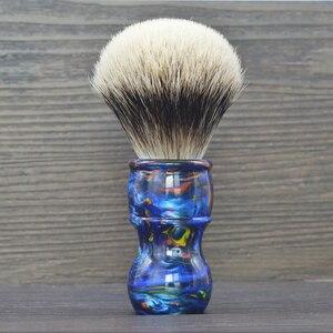Dscosmetic смокинг большого размера 26 мм, двухполосный Барсук с узлом для волос, цветная ручка из смолы для мужчин, Парикмахерская щетка для брит...