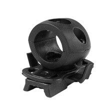 Tactical 20mm Helmet Flashlight Mount Clip  Helmet Clamp Adaptor For Fast Helmet Mini Flashlight Mount Holder стоимость