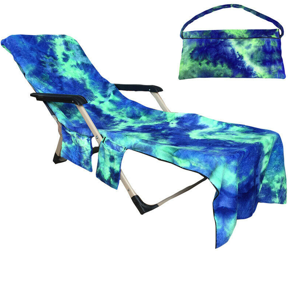Portable Microfiber Beach Towels Lounge Chair Cover Foldable Pool Bag Patio Pocket Outdoor Tie Dyeing Bath SunPortable Microfiber Beach Towels Lounge Chair Cover Foldable Pool Bag Patio Pocket Outdoor Tie Dyeing Bath Sun