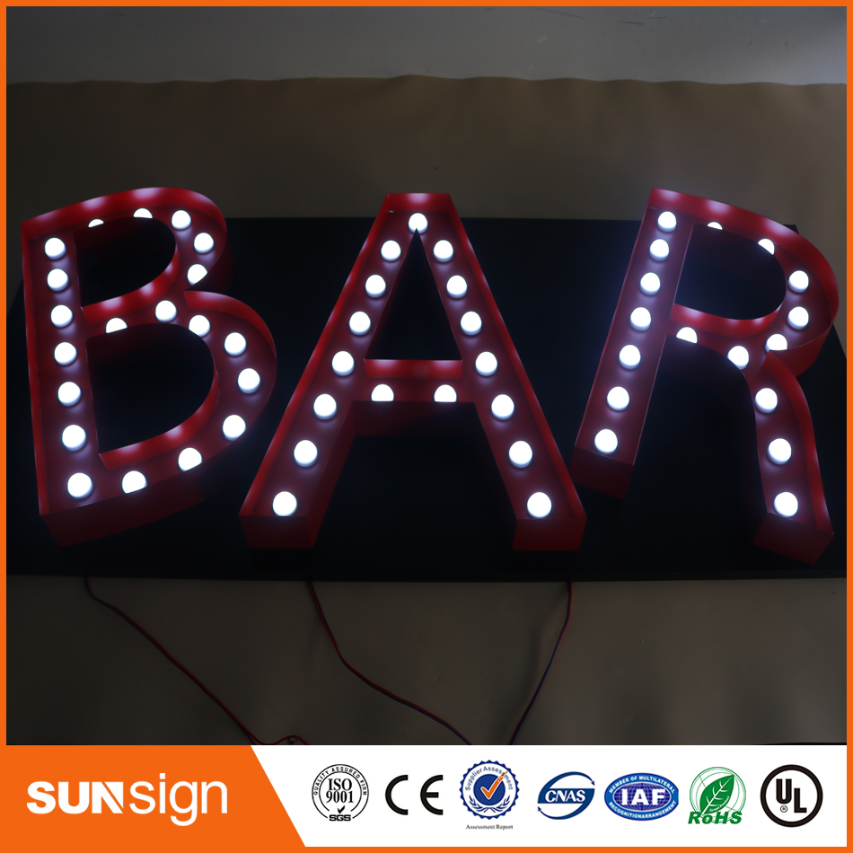 Lighted Alphabet Letter Sign,frontlit And Backlit Led Channel Letter Sign,light Up Letters For Sign