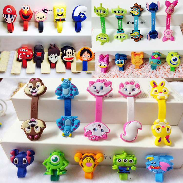 Cartoon Cable Organizer Cable Bite Cute Accessory Protector Lines Winder For Mobile USB Practical Gifts Squishy Prank Toy Funny
