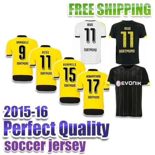 2016 Camisa Borussia Dortmund Jersey 15 16 Soccer Jerseys Dortmund 2015  Marco Reus Jersey MKHITARYAN Hummels Dortmund Shirt 42dc6ba17