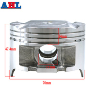 For Honda AX 1 250 NX250 XL250 KW3 AX 1 Motorcycle Engine Parts STD ~ +50 Cylinder Bore Size 70mm 70.25 70.50 Piston & Rings Kit