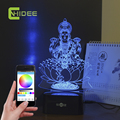 Creative Gifts USB Music Lamp India Lakshmi Goddess 3D LED Table Lamp Lampade Da Tavolo Home Decor Bluetooth Music Nightlight