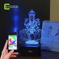 Criativo presentes de música USB índia Lakshmi deusa 3D LED mesa lâmpada noturna Lampade Da Tavolo decoração música Bluetooth