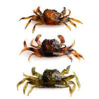 3D Simulation Weichen Krabben Angeln Köder Wurm Lockt Wobbler Haken Köder Tackle