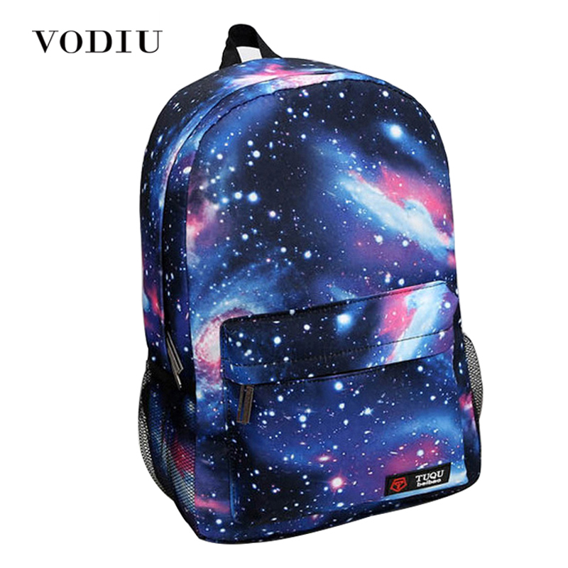 2018 Harajuku Style Galaxy Cosmos Zipper Canvas Women Men Backpacks Printing School Bags Teens Girls Boys Travel Large Mochila