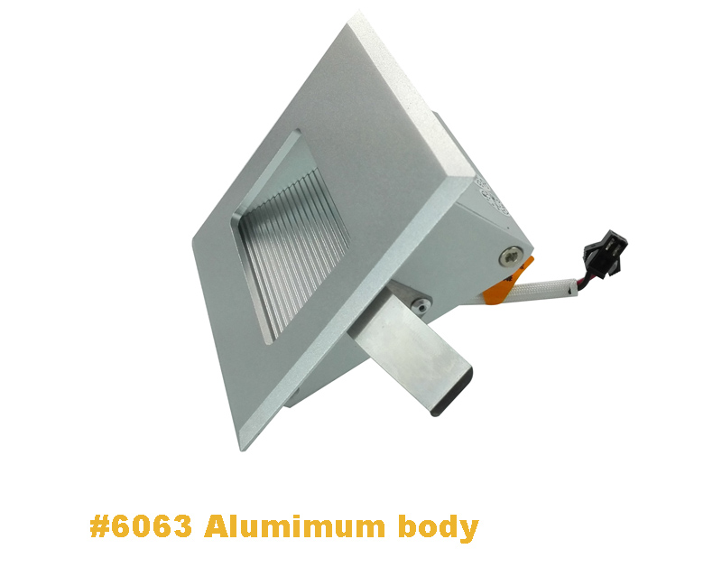 ?Recessed mounted 86*86mm indoor led ? step step wall light, stair lamp,wall lamp lamp - us153