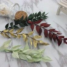 1 шт./ основа головной убор ручной работы украшения сушеные цветы Стволовые ветви богатые листья Милан листья