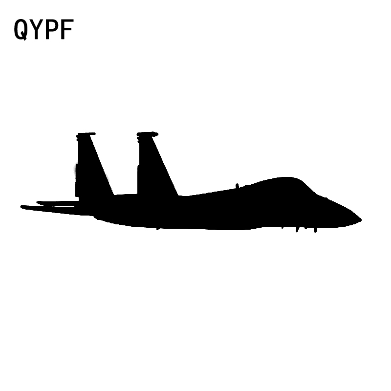 QYPF 17.3CM*5CM Fashion Air Force Eagle Vinyl Car-styling Decal Graphical Decor Black/Silver Car Sticker C15-0892