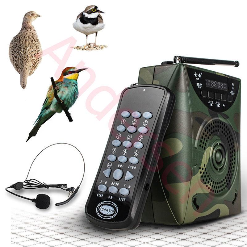 48ВТ цифровой Охота птица вызывающей, птица MP3-плеер Охота манок + беспроводной пульт дистанционного управления + звуки птиц