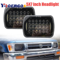 5x7 6x7 inch 5D LED Truck Headlamp with DRL Projector Lighting Replacement Head Lamp For Jeep Cherokee LED Headlight