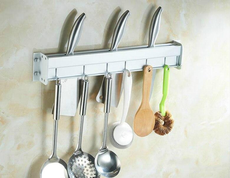 Knife Holder Tool Rest Shelf For Kitchen Pub Bar Counter Black Knife Holder Kitchen Hanging Rack High Quality