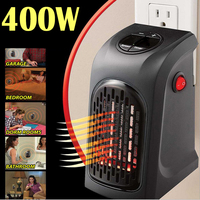 Warm Portable 400W Handy Heater Wall Outlet Air Heater For Home Electric Fan Heater Timer Speed