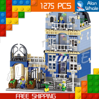 1275pcs Creator Expert Factory Market Street Construct 30013 DIY Model Modular Building Blocks Toys Bricks Compatible with Lego
