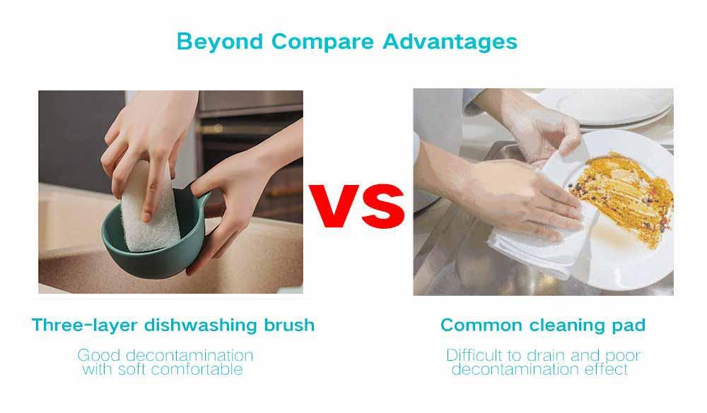 camadas ferramenta de limpeza doméstica escova de