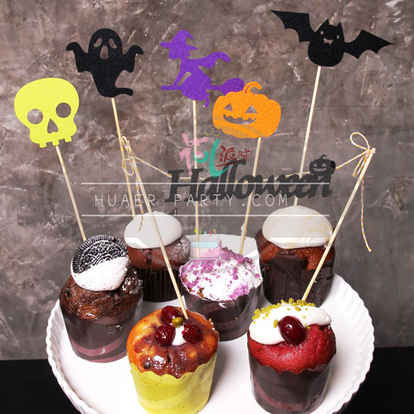 22pcs free shipping halloween cupcake stand cupcake holder cupcake topper kids birthday party supplies party - Halloween Cupcake Holder