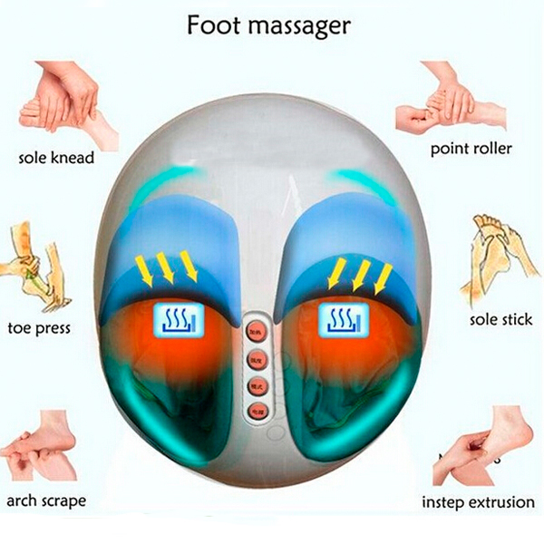 Smart Foot Massager Latest Design Foot Relax Massager Pressure Foot Machine Infrared Heating Kneading Foot Massager 3d electric foot relax health care electric anistress heating therapy shiatsu kneading foot massager vibrator foot cute machine