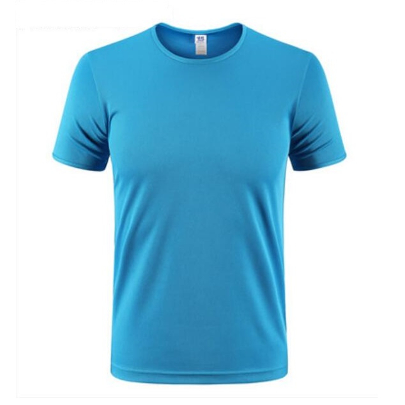Quickly drying t shirt net design breathable men tee shirt solid color