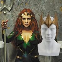 1:1 Justice League Aquaman Mera Tiara Crown Cosplay Mera Headwear Princess Crown Cosplay Costume Accessories Props Halloween