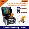 "Free shipping!BOBLOV 7"" LCD 20M HD 1000TVL Underwater Fishing Camera DVR Recorder Fish Finder"