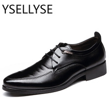 Size 6-9.5 New Fashion Mens  Pointed Toe Dress Shoes Black  Shoes  Casual Business Shoes Flats Male British Lace-Up Mens Shoes
