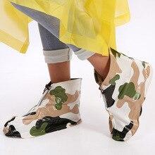KESMALL Rain Shoes Waterproof Shoe Covers For Men And Women PVC Waterproof Shoe Covers For Children Wear Resistant Rain Boots