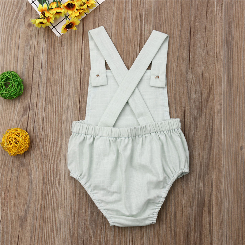 HTB1wdC.SNjaK1RjSZFAq6zdLFXaD Baby Boys Romper Summer Infant Cotton Newborn Sleeveless Rompers Baby Girl One-pieces Suspender Jumpsuits Cotton Clothes Outfits