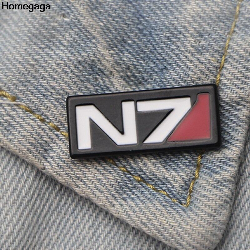 Homegaga Mass effect Zinc alloy tie pins badges para shirt bag clothes backpack shoes brooches medals decorations D2066
