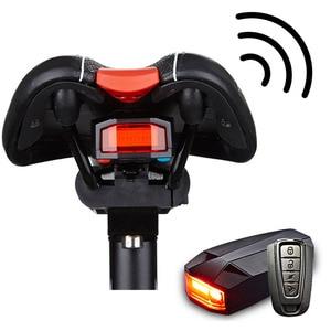 Image 2 - 4 In 1 Anti theft Bike Security Alarm Wireless Remote Control Alerter Taillights Lock Warner Waterproof Bicycle lamp Accessories