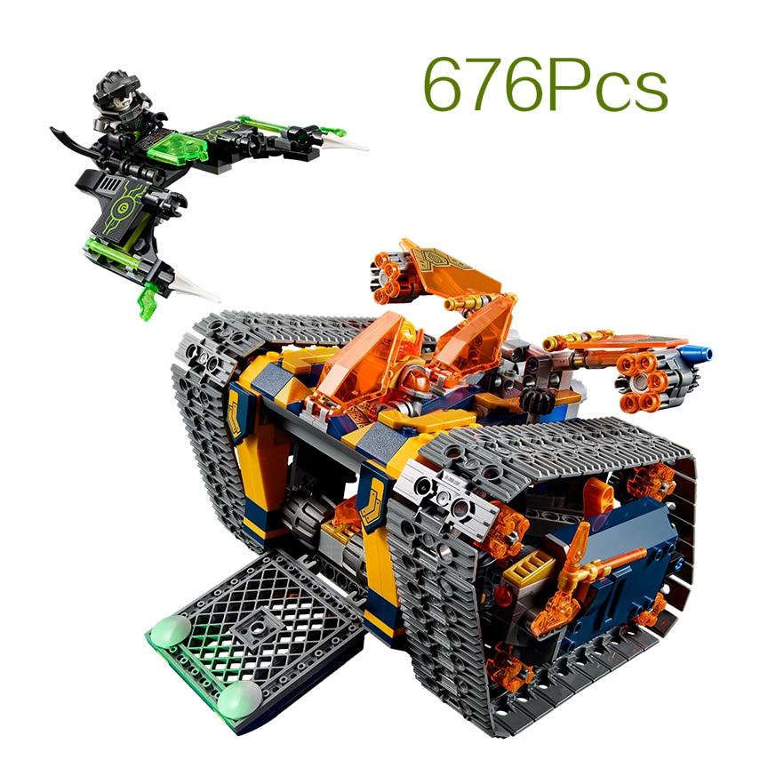 lepin Building Blocks 676Pcs Nexus Knights Axls Rolling Arsenal Model Toys DIY Educational kids Toys for children gifts