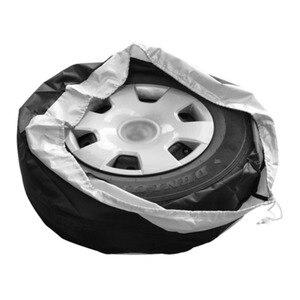 Image 3 - 1 Stuks Tire Cover Case Auto Reservewiel Cover Opbergzakken Carry Tote Polyester Band Voor Auto Wiel Bescherming Covers 4 Seizoen