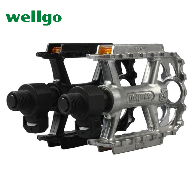 wellgo QRD bicycle pedal DU bearings BMX raod mountain bike pedals MTB aluminum ultralig ...