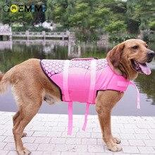 Pet Dog Life Jacket Safety Clothes Vest Collar Harness Saver Swimming Preserver Summer Swimwear Mermaid Shark