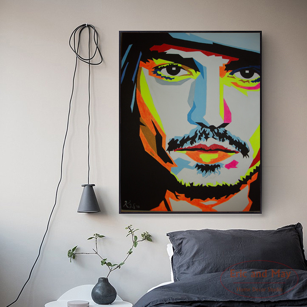 Johnny Depp Pop Posters and Prints Canvas Art Painting Wall Pictures For Room Home Decoration Wall Decor No Frame in Painting Calligraphy from Home Garden