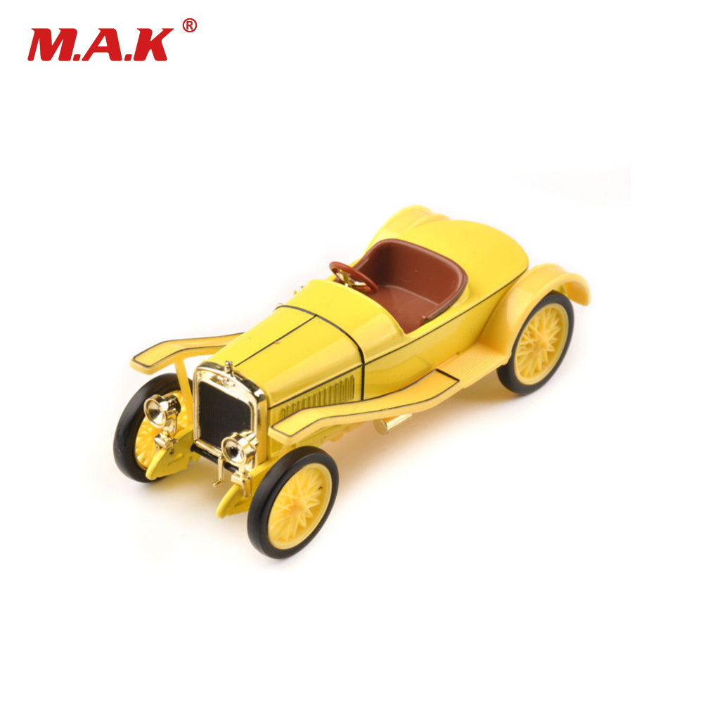 Cheap Kids Toys Diecast 1/43  Yellow Hispano Suiza Classic Collectible Model Alloy Diecast Color Car Toys Babygift