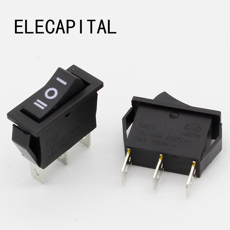 Electrical Equipment & Supplies Rocker Switch 21mm x 15mm Black ...