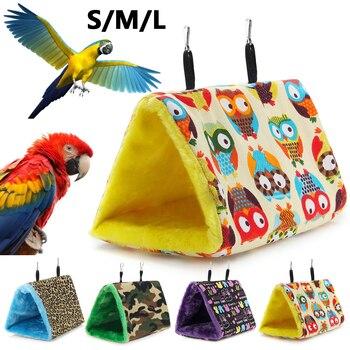 Pájaro Parrot Parakeet Budgie Caliente Hamaca Suave Jaula Cabaña