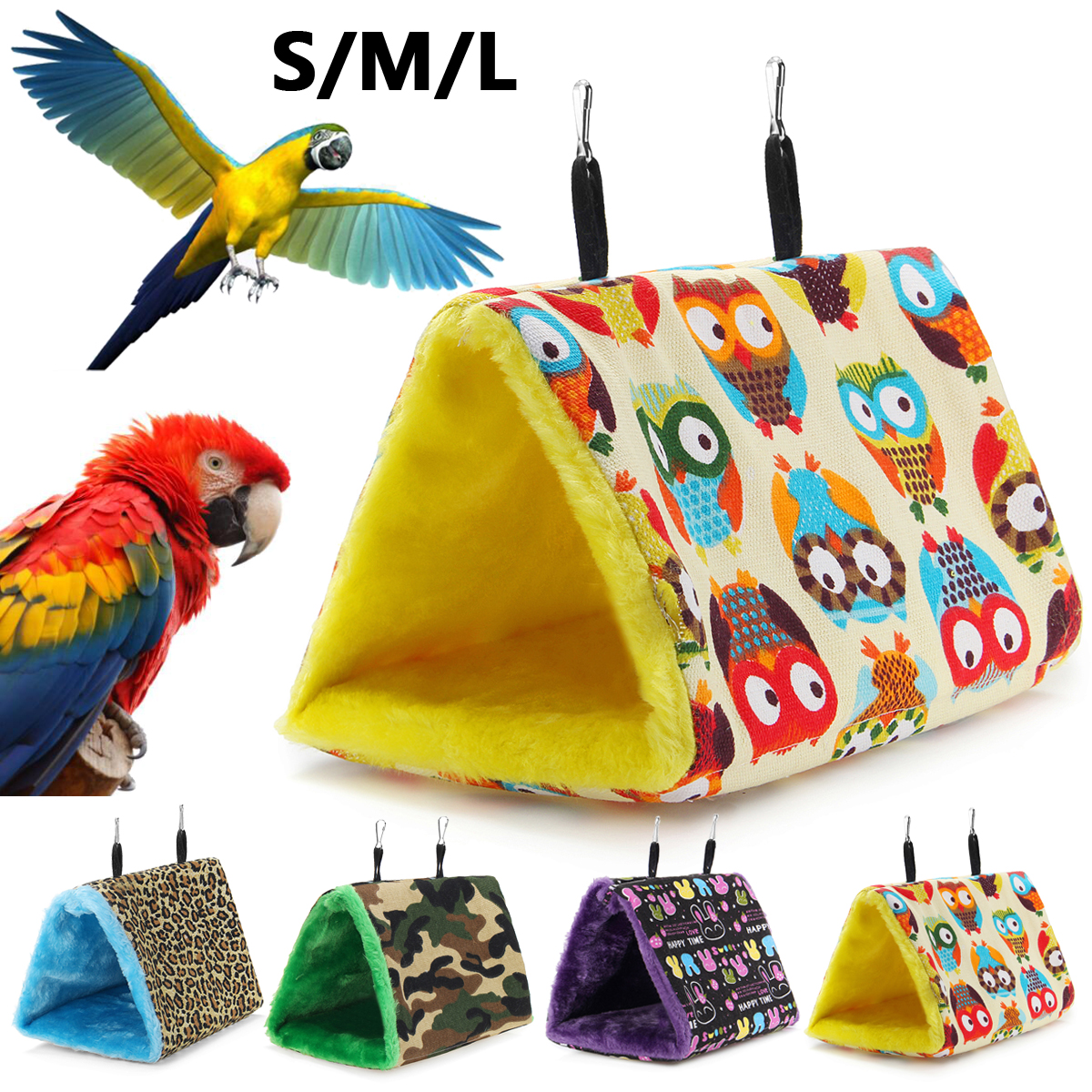 Bird Cages & Nests Home & Garden Collection Here Pet Bird Soft Plush Parrot Hammock Warm Hanging Bed Cage Pad Mat Cave Hut Tent Toys House Bird Parrot Hammock Bed Toys