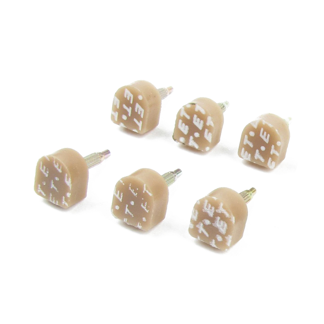 VSEN 2X Hot 8 Pcs Tan Plastic Shoes High Heel Tips Taps 11mm x 10mm for Ladies vsen hot styleluggage bag replacement plastic 1 side rectangle buckle 10 pcs